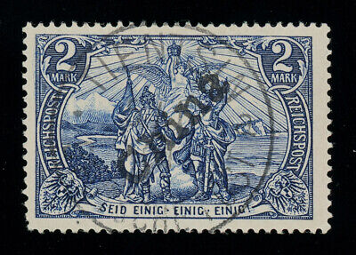 German P.O. in China 1900 Tientsin hand-overprint on 2M c-t-o, perfect quality
