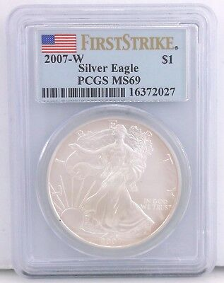 2007 West Point - American Eagle - PCGS MS69 - 1 oz Silver - First Strike ~#5095