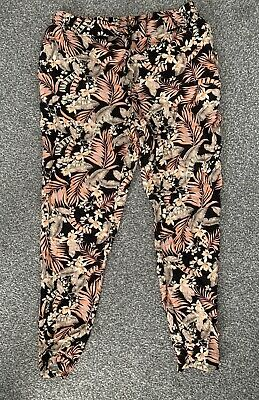 Maternity Newlook Linen Summer Trousers Size 10