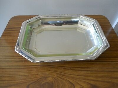 Art Deco, SJL & Co, Octagonal Silver Plated Serving Dish w Pyrex  Lining , 1930'
