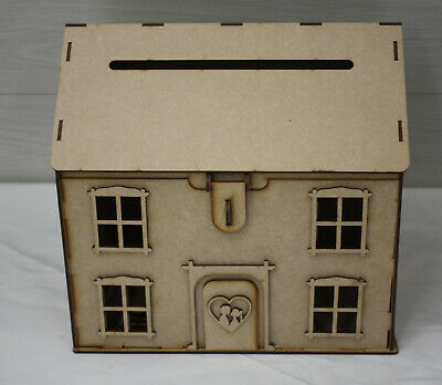 M012 WOODEN WEDDING HOUSE POST BOXcard wedding card box personalised