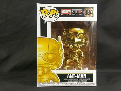 Gold Chrome Ant-Man Funko Pop! Vinyl Marvel Studios The First 10 Years In Hand