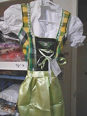 Girls,Kids,size 11,Germany,German,Trachten,May,Oktoberfest,Dirndl,3-pc.green mix