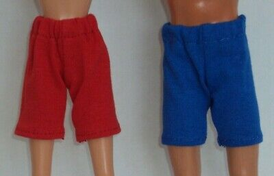 3 pr Active Shorts for Barbie & Ken ~ Red, White & Blue ~ Fashion Doll Clothes