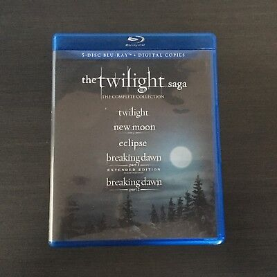 The Twilight Saga The Complete Collection 5 Disc Blu Ray