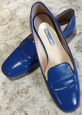 927f1b95202 Prada Women s Shoes Ballet Flats Size 39 Blue Calzature Donna Vernice - USED