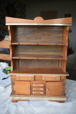 Stunning Vintage Wood Welsh Dresser Cupboard Miniature Apprentice Piece