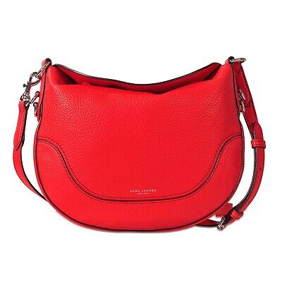 d58824f12f4a MARC JACOBS SMALL Drifter Red Leather Crossbody Shoulder Bag ...