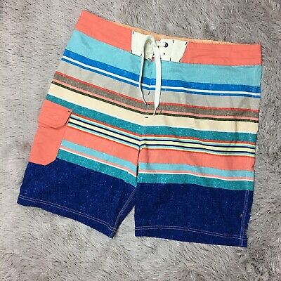 fae06deb56 Sperry Top Sider Mens Size 36 Board Shorts Surf Swim Trunks Multi-Color  Striped