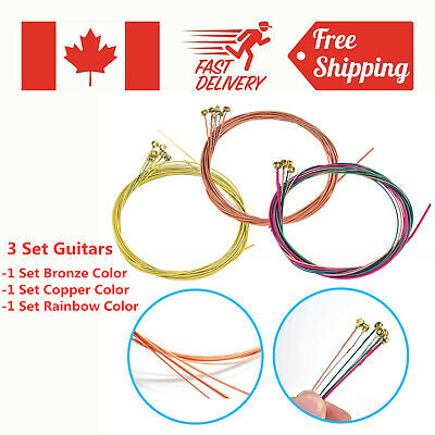 3 Set of Acoustic Guitar String E-B-A-G-D-E Set for Guitar Strings Replacements