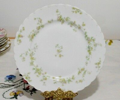 """Haviland Limoges Antique (1894~1931)  Pink Yellow Flowers  Plate 9 1/2"""""""