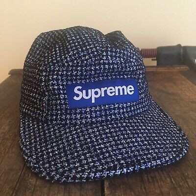 b0fe16e3 Rare Supreme Navy Blue Knit Five Panel Hat NYC SKATE HYPE CLEAN NEW YORK  STYLE