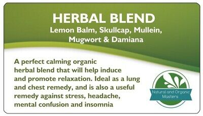 ✅HERBAL BLEND Herb High Chill Organic Smokable Lung Cleanse Quit Weed 30g Tea