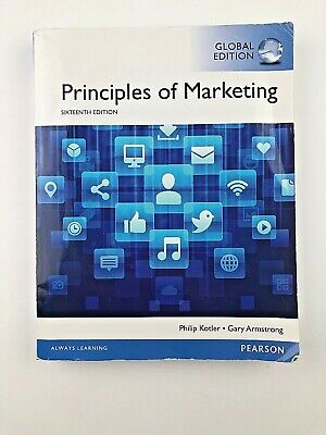 Principles of Marketing by Gary Armstrong and Philip T. Kotler (Ed16, Softcover)