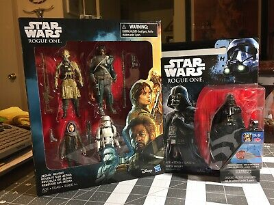 2017 Star Wars JEDHA REVOLT 4-Pack Saw Gerrera Two Tubes Jyn PLUS Darth Vader