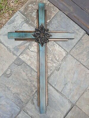 LARGE 36 inches Iron CROSS for Wall. Handmade Rustic Elegant Decor. NEW Handmade