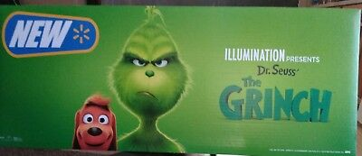 THE GRINCH (2018) 2 PC. STANDEE ENDCAP POSTER FOR 4K, BLURAY, DVD! Dr. Seuss!