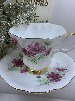 Royal Albert Tea Cup And Saucer Bone China England Friendship Cosmos Series