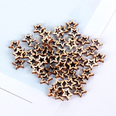 Unfinished Scrapbooking Hollow Star Shape Wooden Crafts Ornament Embellishment