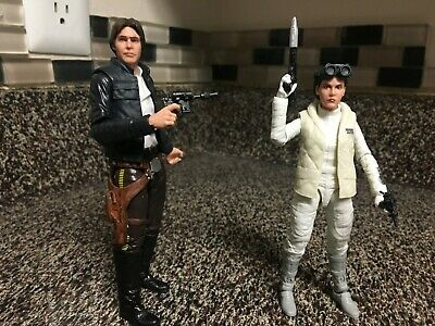 Star Wars Black Series Han Solo (Bespin) & Hoth Leia 2-pack - LOOSE - MINT