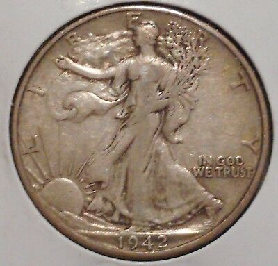 Walking Liberty Half - 1942-D - Overstock Sale! - $1 Unlimited Shipping-945