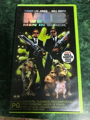 Men In Black VHS Video Tape with bonus Will Smith music video