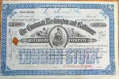 New York Rochester and Genesee Valley Rail Road Stock Certificate