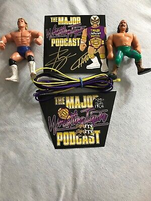 Major Wrestling Figure Podcast Sticker Set Ropes Signed Zack And Curt Plus Bonus