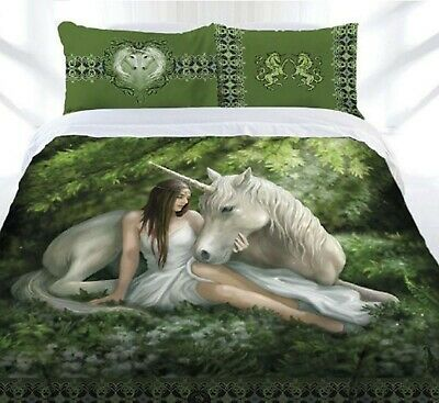Anne Stokes Quilt Cover Set Pure Heart Queen Size Doona Cover - Brand New