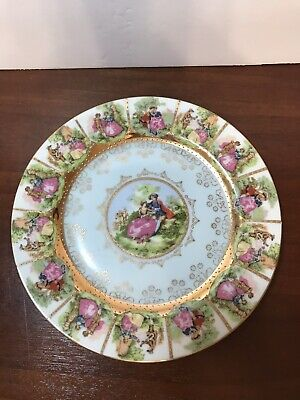 Gorgeous 8 Inch FRAGONARD White Courting Couple  Plate Bavaria Germany