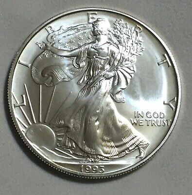 1993 Silver Walking Liberty American Eagle One Dollar Coin . .999 Fine 1 Troy Oz