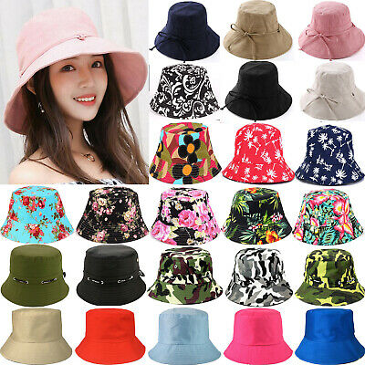e26944b2 Unisex Mens Ladies Bush Bucket Boonie Hat Fishing Hunting Summer Beach Sun  Caps