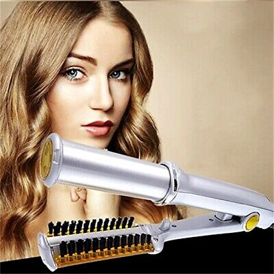 Professional 3 in 1 Hair 2-Way Rotating Curling Straightening Iron Beauty Wave