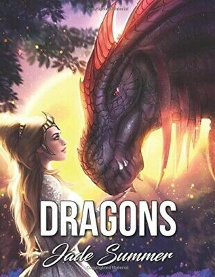 Dragons: An Adult Coloring Book with Mythical Fantasy Creatures, Beautiful ...