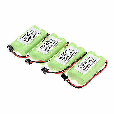 4 Pieces 1400mAh 2.4V HOME USE Cordless Phone Battery for Uniden bt-1007