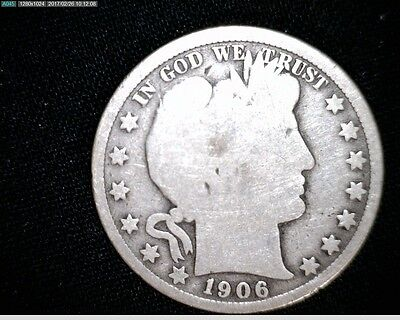 1906  O Circulated  Silver Barber Half Dollar #5353