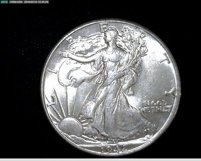 1942 Uncirculated Silver Walking Liberty Half Dollar #K-43