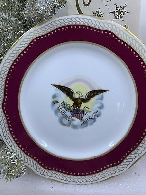 White House China Woodmere James Monroe Desert Plate 1986