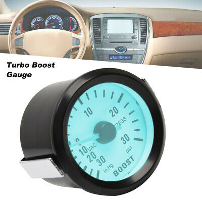 LED Car Turbo Boost PSI indicator with blue LED backlight 0 ~ 30PSI 52mm 2 ""