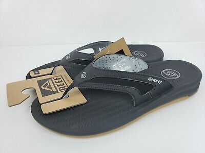 d2c8a111cc9 REEF MENS FLEX Black Silver Flip Flops Sandals Size 10 NEW -  32.99 ...