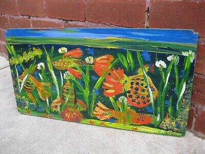 'Tropical FISH' Oil PAINTING By JULIANNE ANDREW-GRIEVE, Australian Listed Artist