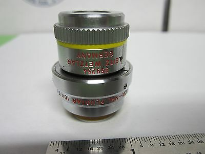 Microscope Objective Leitz Dic Prismes 10x Npl Fluotar Infinity Optiques Bin