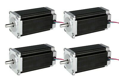 4PCS Nema34 1600oz.in Stepper Motor 34HS5435C-37B2 Single Shaft 3.5A CNC kit