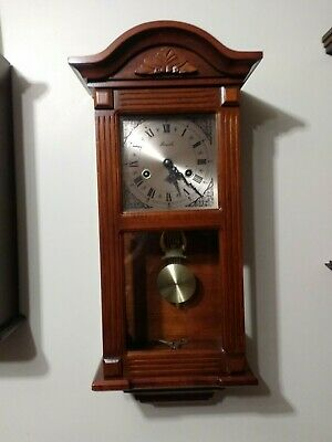 VintageSolid  wood Lincoln wall clock