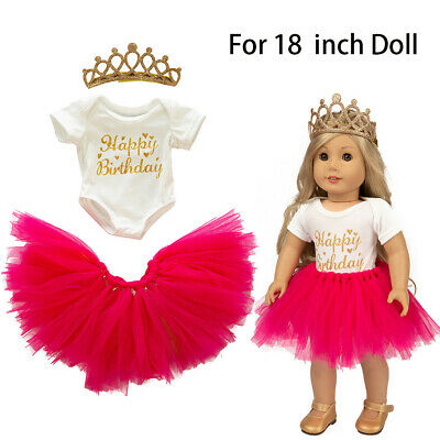 Cute Tutu Skirt Clothes Coat Set Girl Toy For 18 inch Doll Accessory Gril's Toy