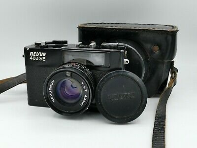 Revue 400Se Rangefinder 1.7/40 Good Working Condition With Bag, Cap And Flash
