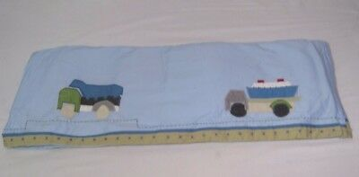 Pottery Barn Kids Christopher's Construction Crib Skirt/Dust Ruffle Cars Trucks