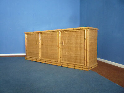 Very rare Art Deco Rattan Bamboo Sideboard by Arco Germany 1940s