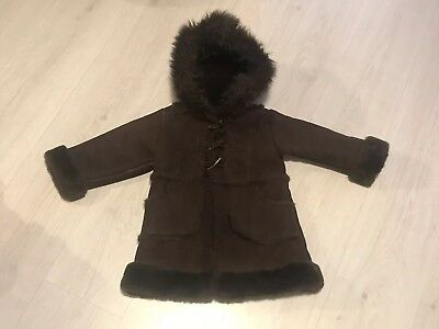 a394e4fd2 BABY GAP FAUX Shearling Sheepskin Fur Lined Pram Snowsuit Suit 6-12 ...