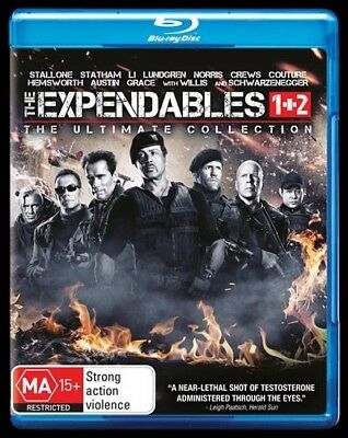 The Expendables / Expendables 2 (Blu-ray, 2017, 2-Disc Set)BRAND NEW & SEALED